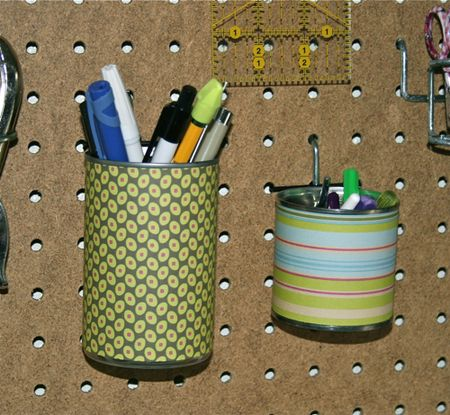 Pegboard cans