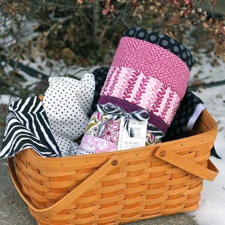Quilt in a basket